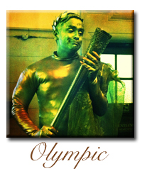 olympic human living statue company hire